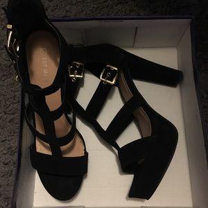 Top Moda Suede Black Shoes Size 10